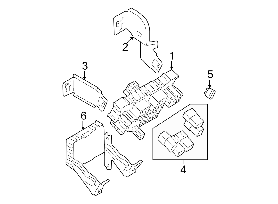 Nissan Rogue Fuse  Block  Relay  Box  And  Assembly