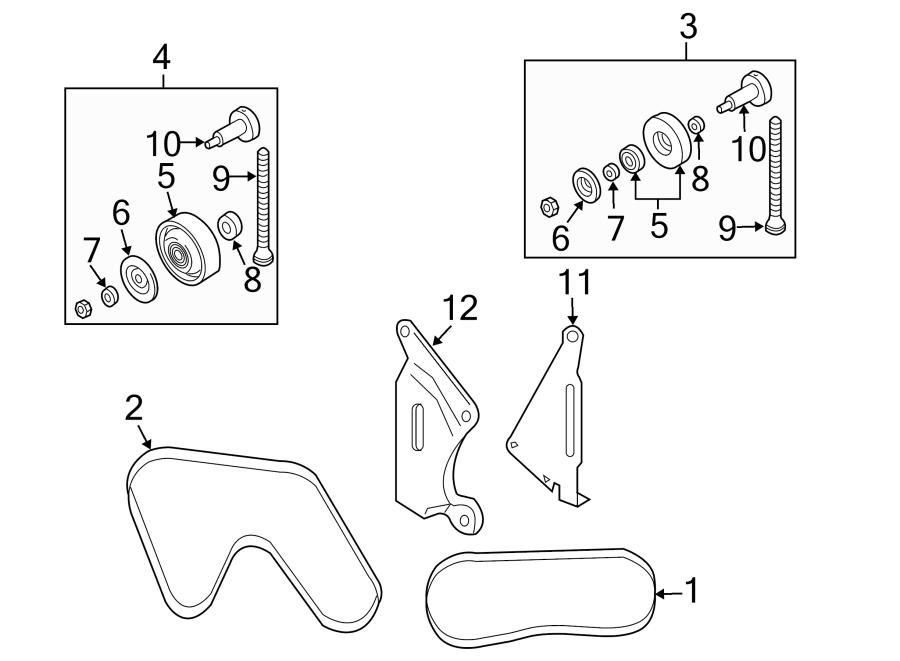 Nissan 350z Pulley  Collar  Idler  Belt