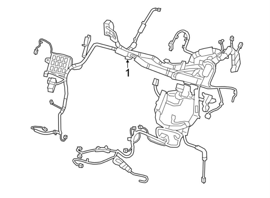 Nissan Leaf Engine Wiring Harness  Sv  W  O Hybrid Heat  W