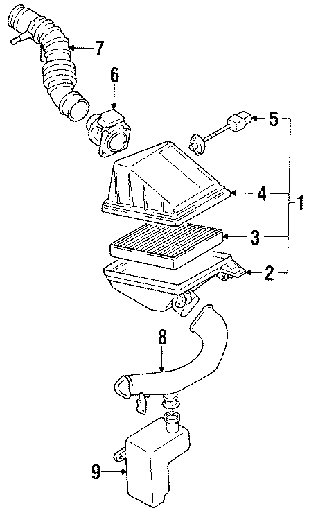 Nissan Sentra Air Charge Temperature Sensor  Engine