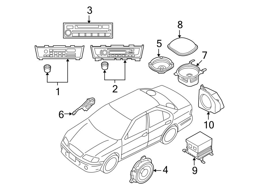 Nissan Sentra Speaker  7 Speaker System  W  O Bose System
