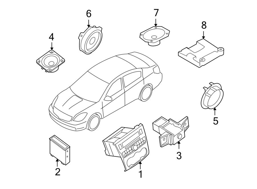Nissan Altima Radio Control Unit  Charcoal  Audio  Bose
