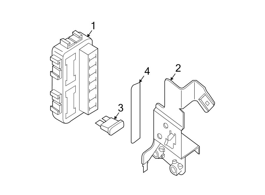 Nissan Maxima Junction Block Bracket  Instrument Panel