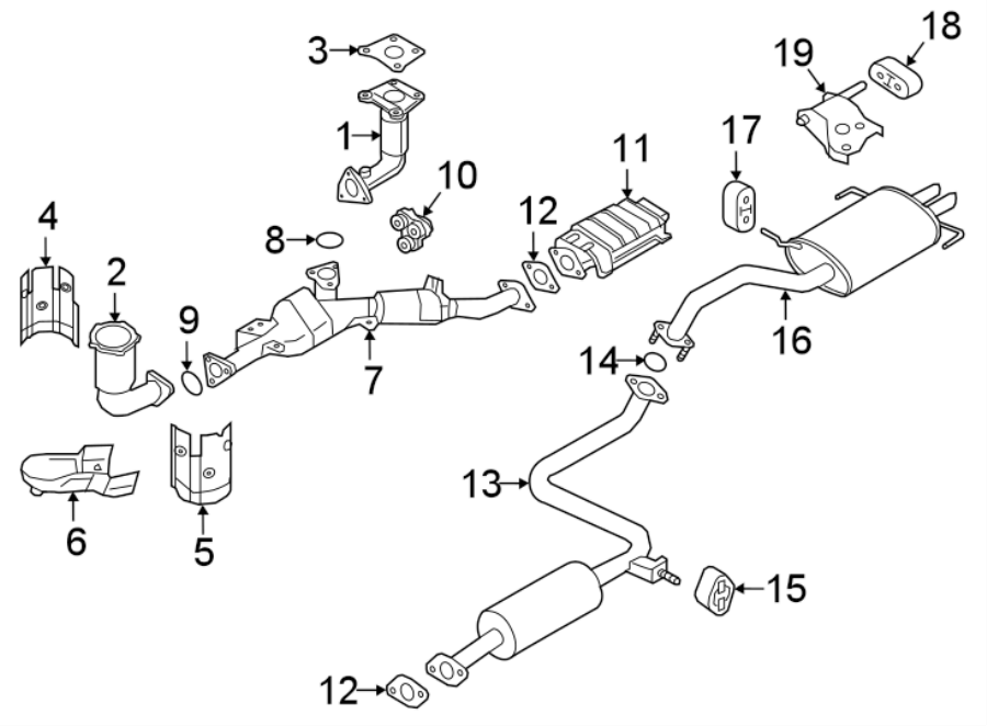 Nissan Maxima Exhaust System Hanger