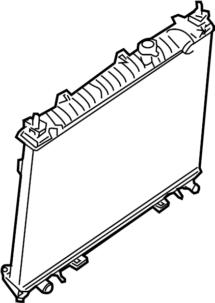 Nissan Frontier Radiator  Trans  Cooling  Manual
