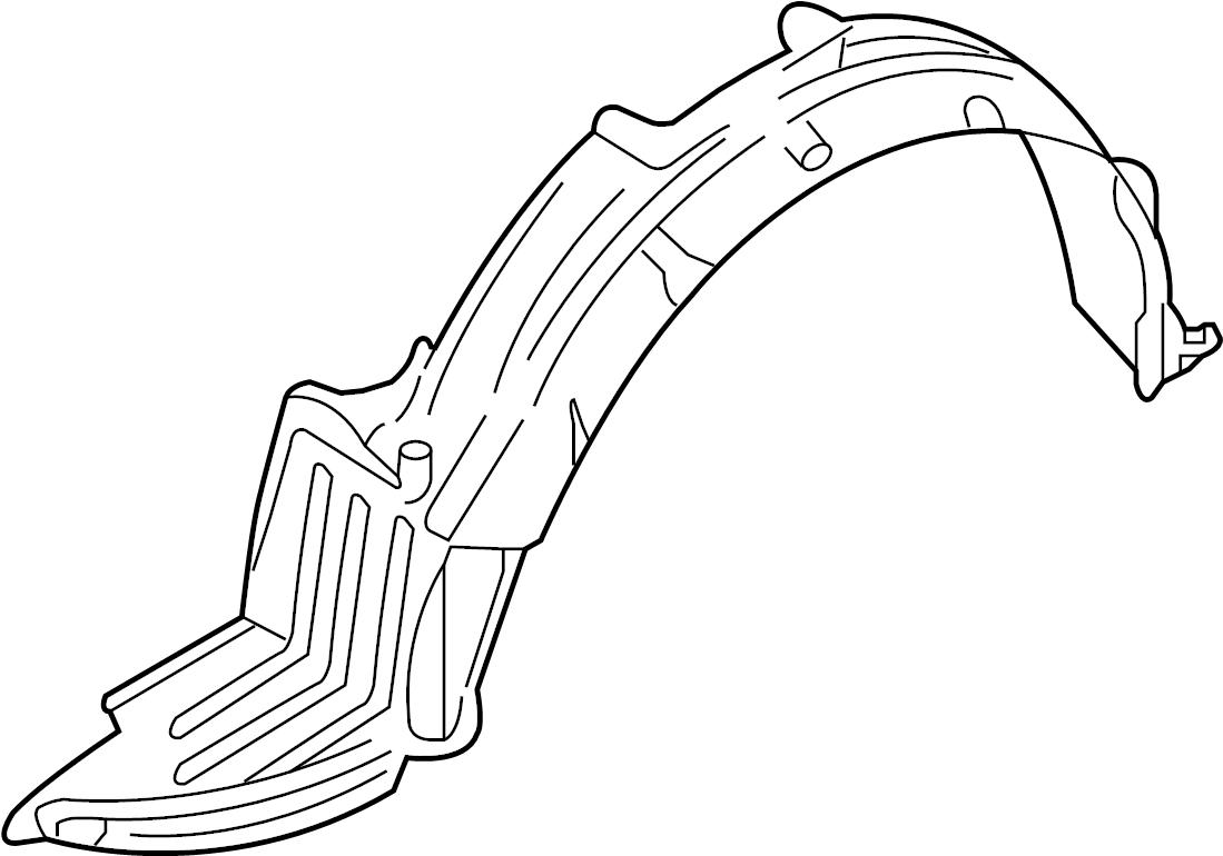 Nissan Altima Fender Splash Shield  W  Se