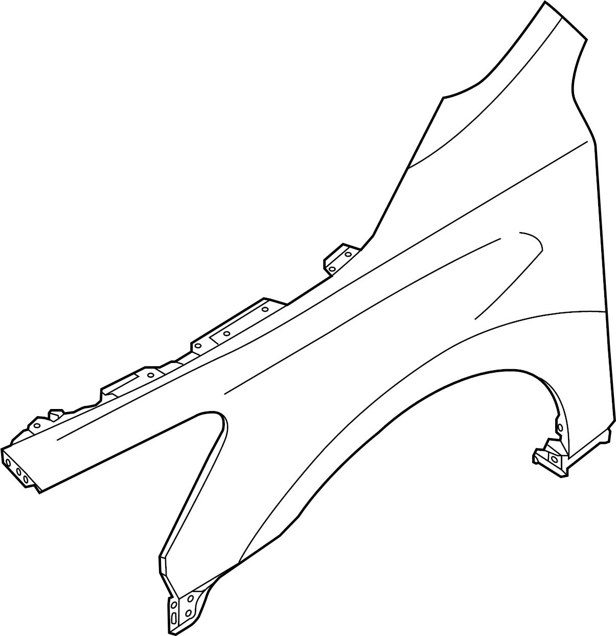 Nissan Altima Fender  Left  Body